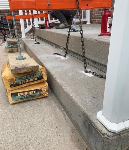 Concrete Step Repair in Aurora, NE