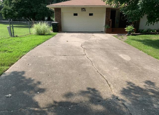 Driveway Repair in Springfield, MO - Before Photo