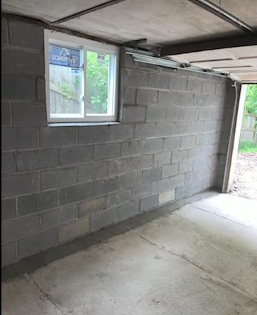 Garage wall re-build - After Photo