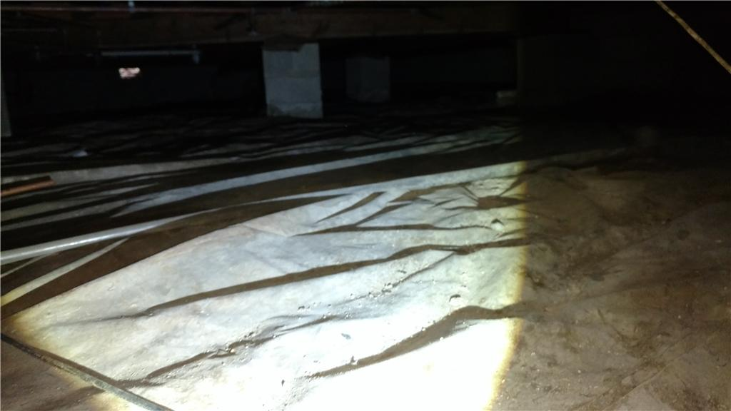 CleanSpace Crawlspace Encapsulation in Danville, Illinois - Before Photo