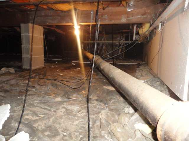 Hoopeston, Illinois Crawl Space Encapsulated with CleanSpace - Before Photo