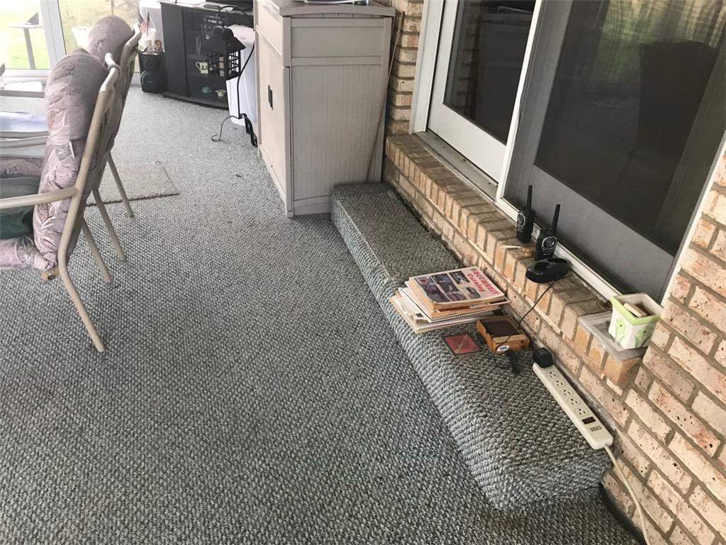 PolyLevel Raises Porches in Marissa, IL - Before Photo