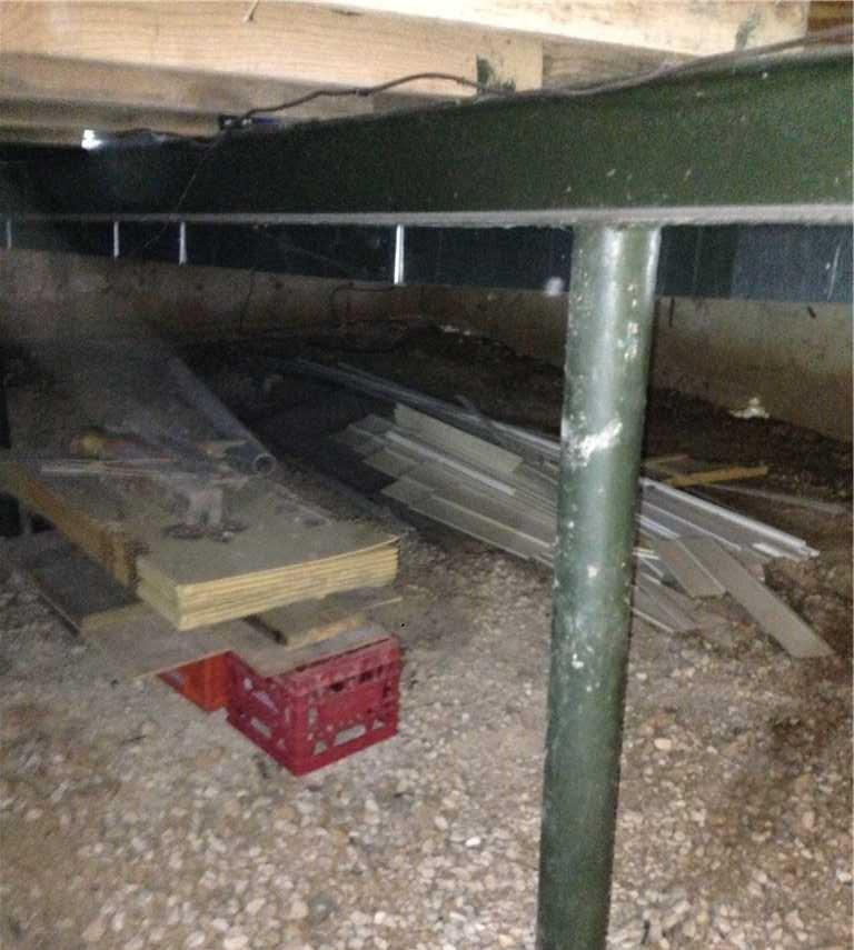Wet Stanton, MO Crawl Space Fitted With CleanSpace - Before Photo