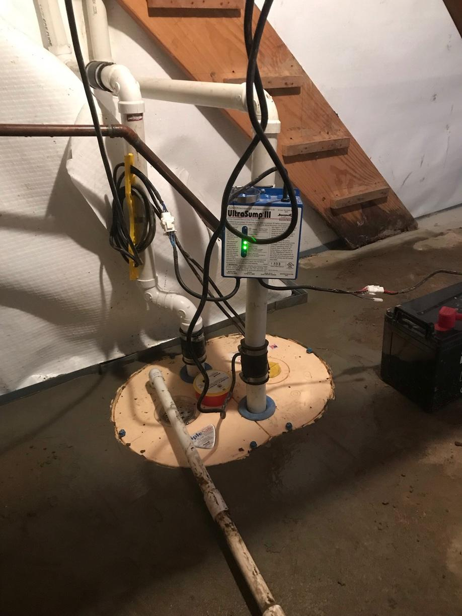 Old, Outdated Sump Pump Swapped with UltraSump in Tilton, IL - After Photo