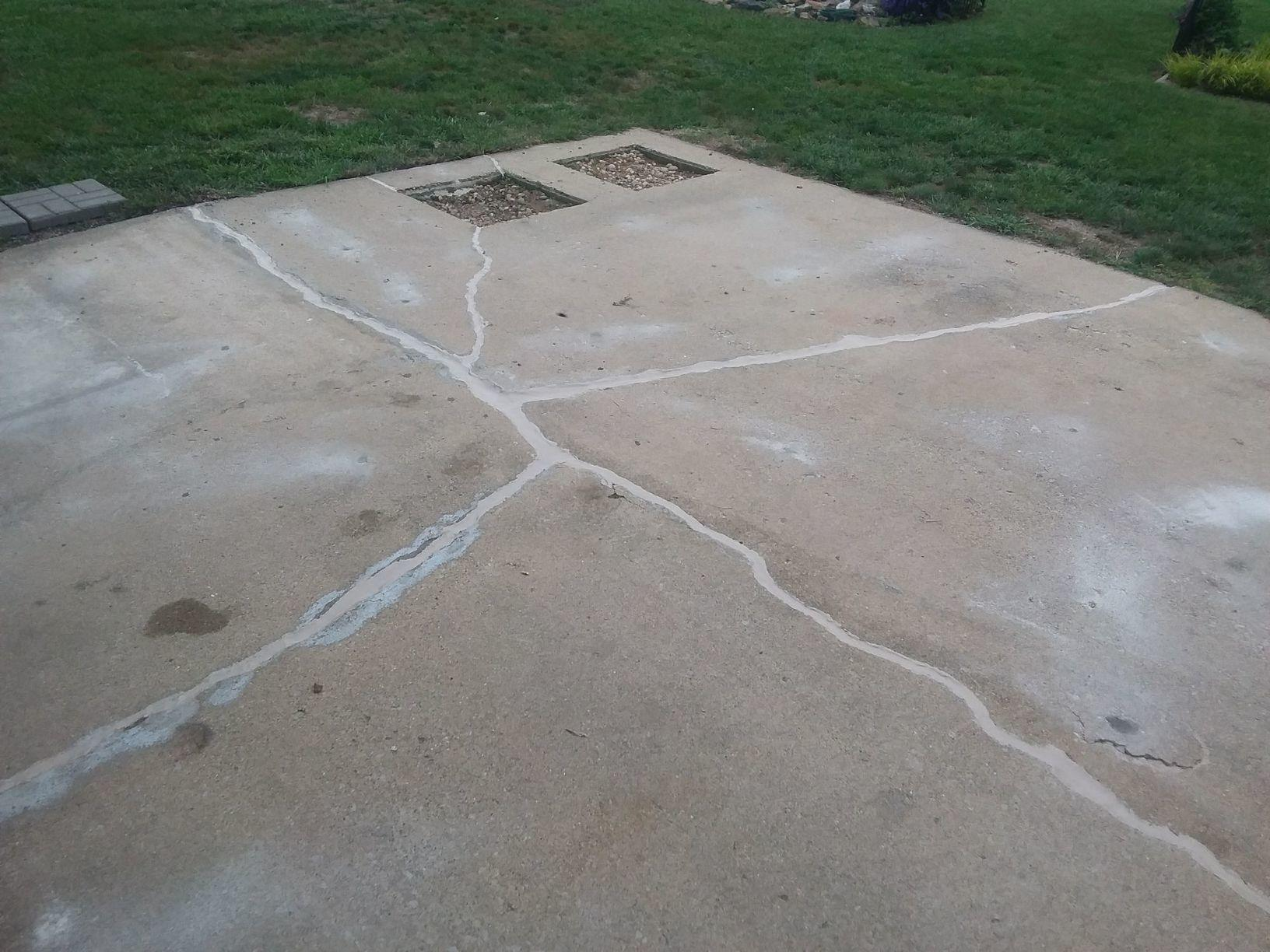 Badly Damaged Centralia, IL Patio Repaired With PolyLevel - After Photo