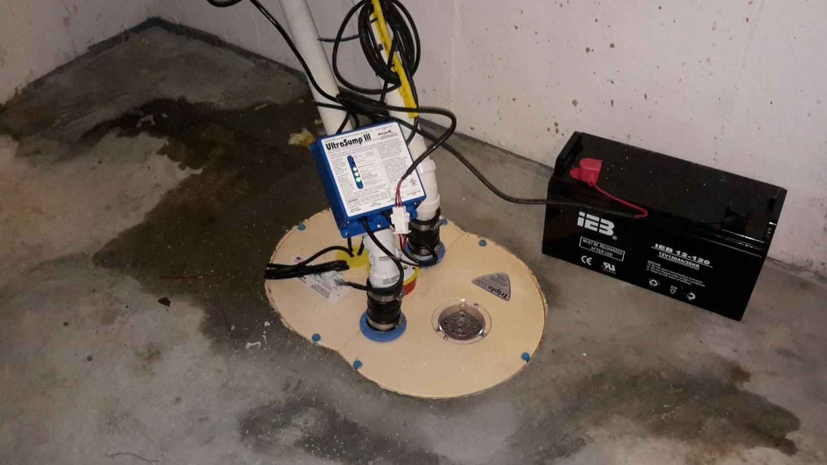 Replacing Old Sump Pump with UltraSump - After Photo