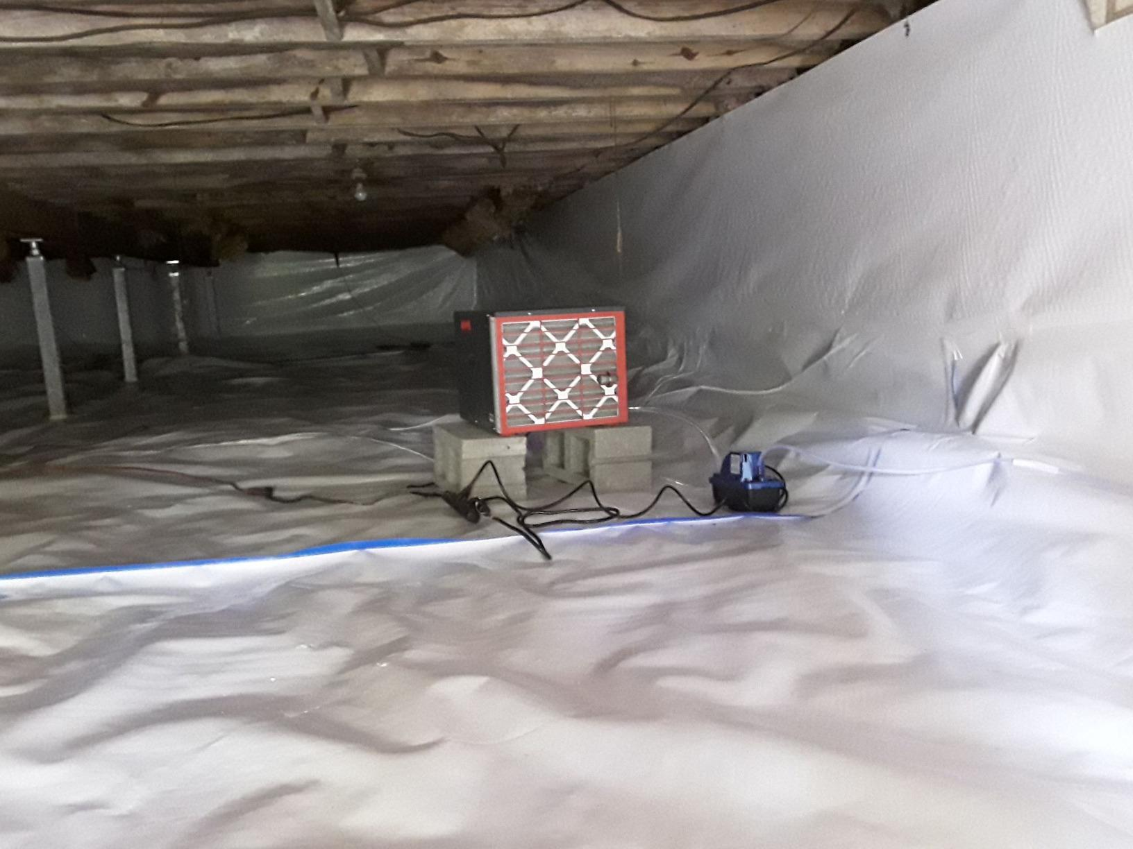 Sealing a Crawl Space and - After Photo