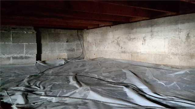 Tilton, Illinois Crawlspace Encapsulated with Cleanspace