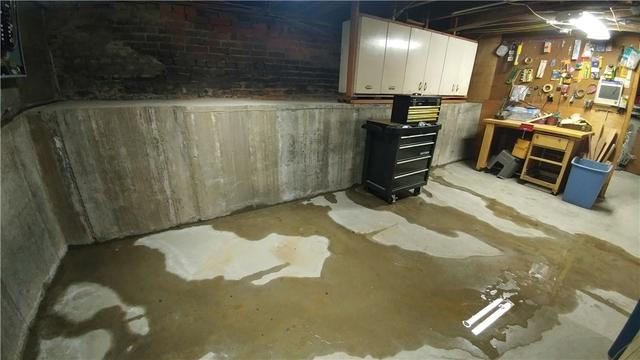 New Athens, Illinois Basement Waterproofed with WaterGuard