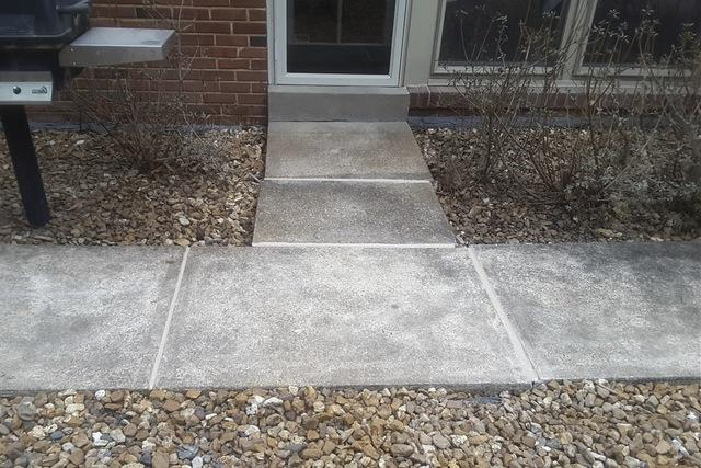 Uneven Sidewalk Leveled with PolyLEVEL in Frontenac, MO