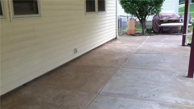 Sinking Concrete Corrected with PolyLevel in Bridgeton, MO