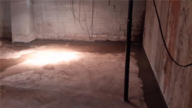 Greenfield, Illinois Basement Waterproofed with WaterGuard