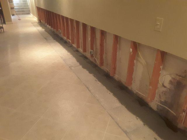 Finished Basement Waterproofed with WaterGuard in McLeansboro, IL
