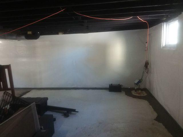 Cracked, Brick Basement Protected by CleanSpace, TripleSafe, & WaterGuard in Collinsville, IL