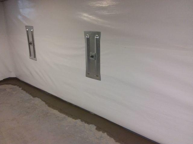 Leaking South County Basement Walls Waterproofed and Secured With CleanSpace and GeoLock