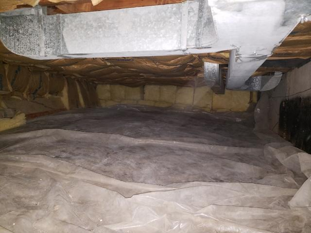Fallen Insulation Overland, MO Crawl Space Restored with CleanSpace