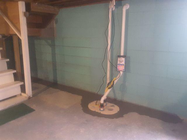 Leaking Mulkeytown, IL Basement Fitted With WaterGuard and and TwinPack