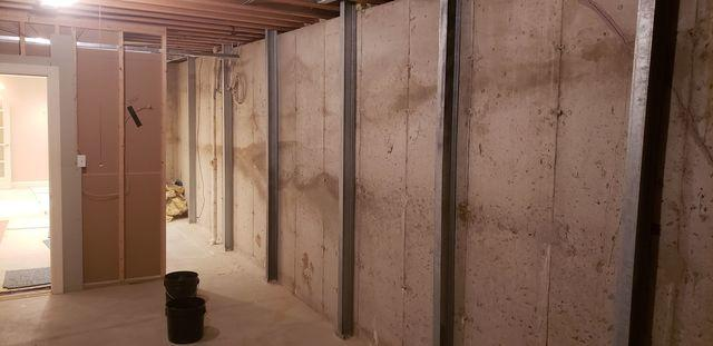 Bowing Chesterfield, MO Basement Wall Supported With PowerBrace