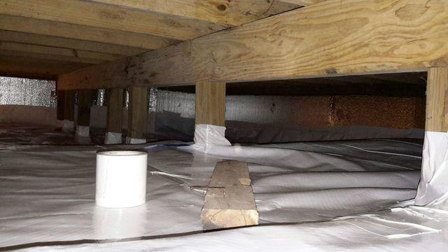 Wet, Dirty Crawl Space Fitted With Clean Space In De Soto, MO