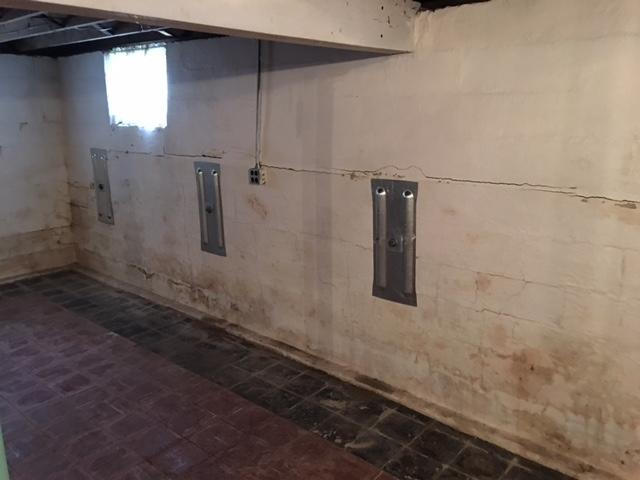 Bowing Basement Walls Supported With GeoLock Anchors In Dix, IL