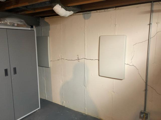 Cracking Chesterfield, MO Basement Walls Supported With GeoLock