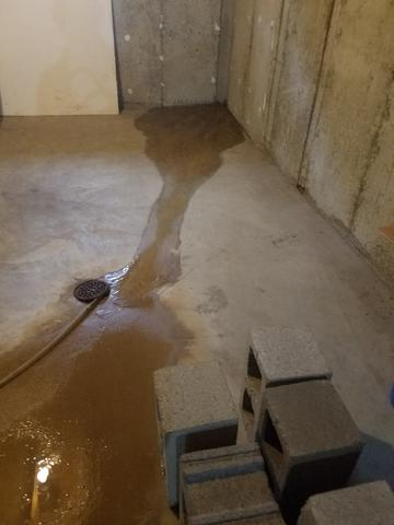 Leaking, Sinking Basement Foundation Righted With Push Piers In St. Charles, MO