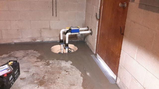 Leaking O'Fallon, IL Basement Fitted With WaterGuard And TripleSafe