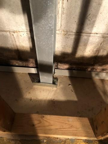 Cracking Basement Walls Supported With PowerBrace In Decatur, IL