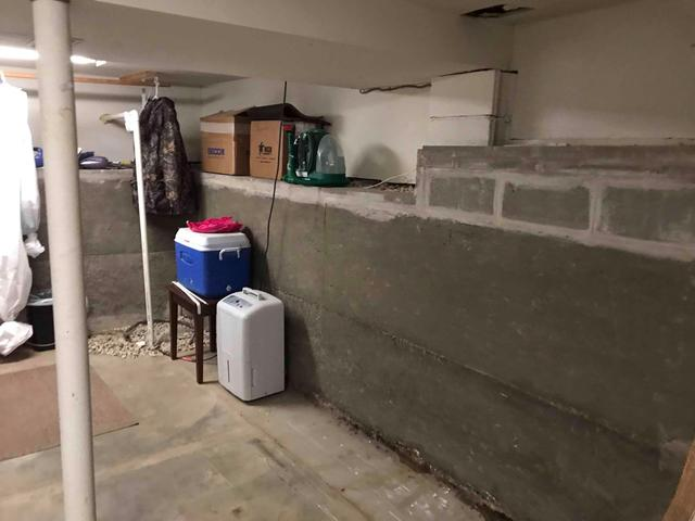 Cracking, Bowing Basement Walls Fitted With PowerBrace In Pevely, MO