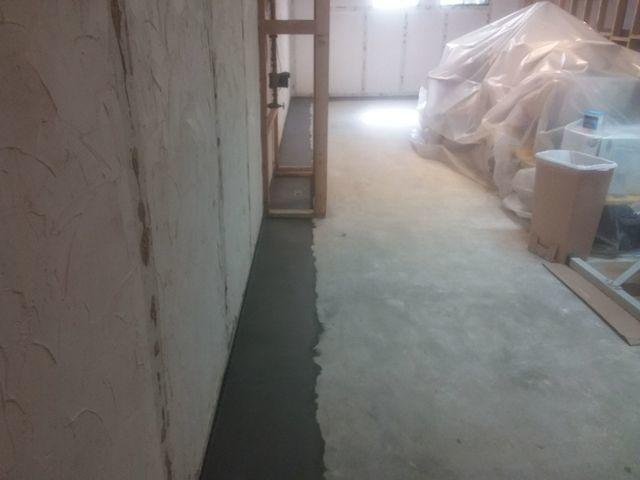 Leaking Basement Fitted With WaterGuard In Ballwin, MO