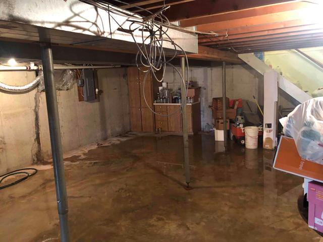 Flooded Farmington, MO Basement Fitted With WaterGuard And CleanSpace
