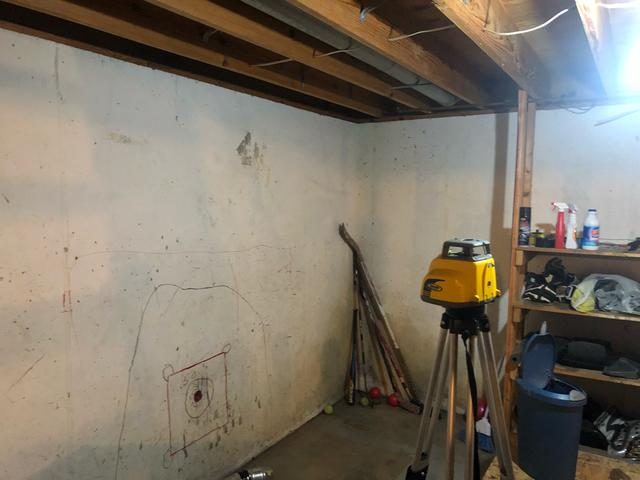 Wet Basement Fitted With WaterGuard In South County