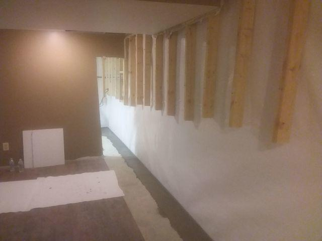 Leaking Finished Basement In Mt. Vernon, IL Fitted With CleanSpace And WaterGuard