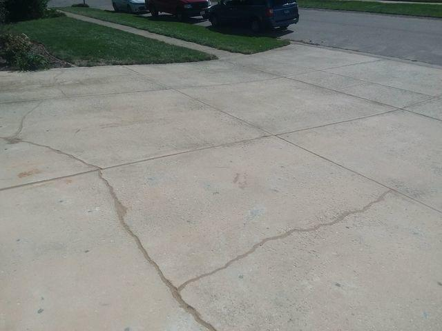 Cracked Springfield, IL Driveway Lifted With PolyLevel - After Photo