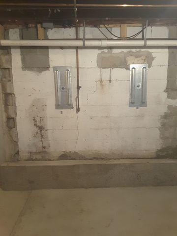 Damaged Pleasant Plains, IL Basement Walls Fitted With GeoLock