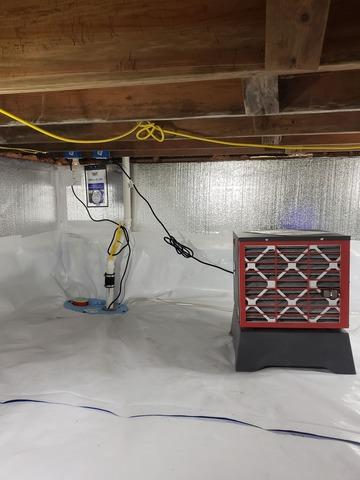 Sealing a Crawl Space in Shelbyville, IL