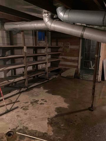 PowerBrace and Waterproofing in Sullivan, IL Basement