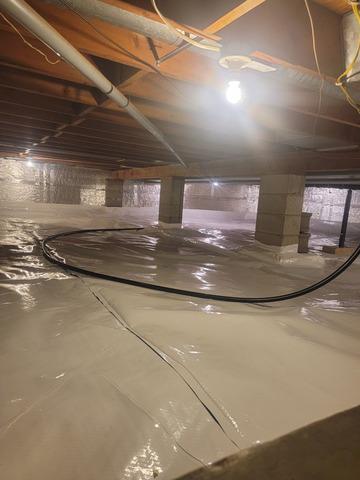 Sealing a Crawlspace in Lovington, IL