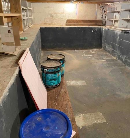 CleanSpace Wall System Brightens Basement and Protects from Water Vapor