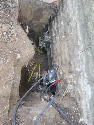 Separating Foundation Blocks Repaired with Push Piers