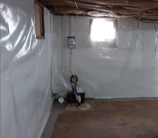 Water Leaking From Foundation Controlled with CleanSpace and WaterGuard