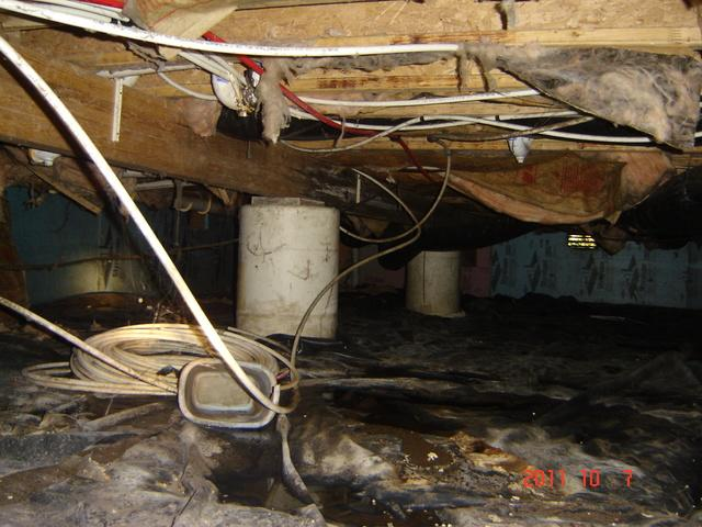 Water Seepage Stopped in Centralia, IL Crawl Space