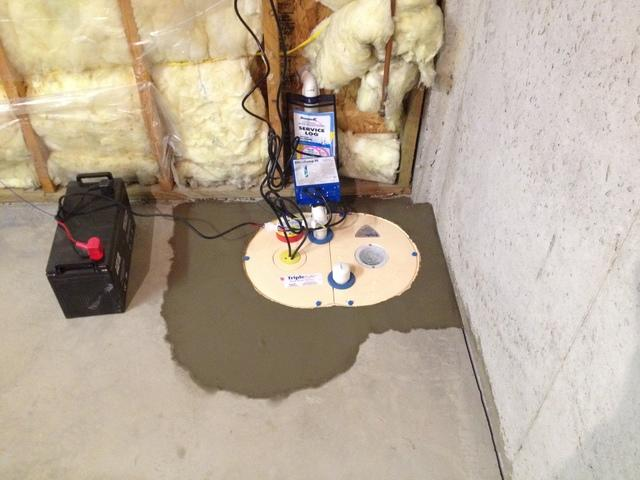 TripleSafe™Sump Pump and Crack Repair