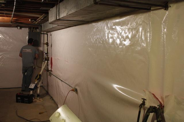 CleanSpace Wall in Brentwood, MO Basement