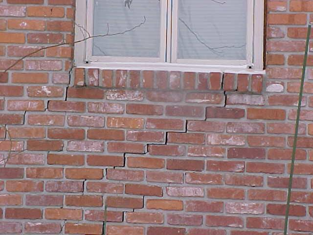 Settling Foundation & Stair-Step Crack in Freeburg, IL
