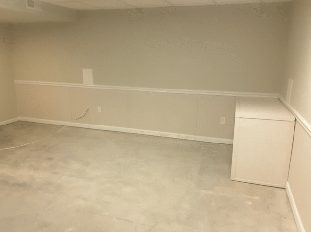 Leaking Finished Basement Waterproofed and Repaired in Chesterfield, Mo