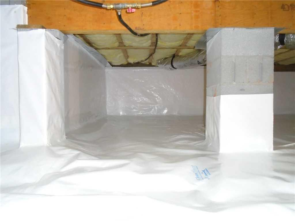 Cleanspace Liner Installation in Wet Crawlspace in Asheville, NC - After Photo