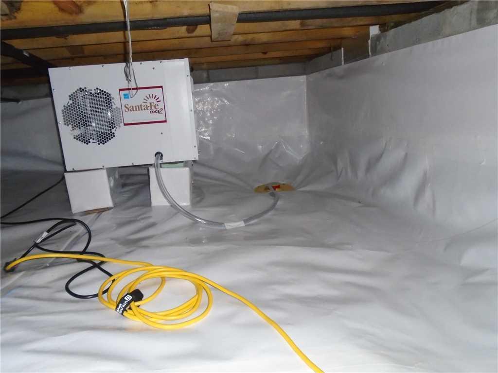 Arden, NC Crawl Space Encapsulation & Dehumidifier Installation - After Photo