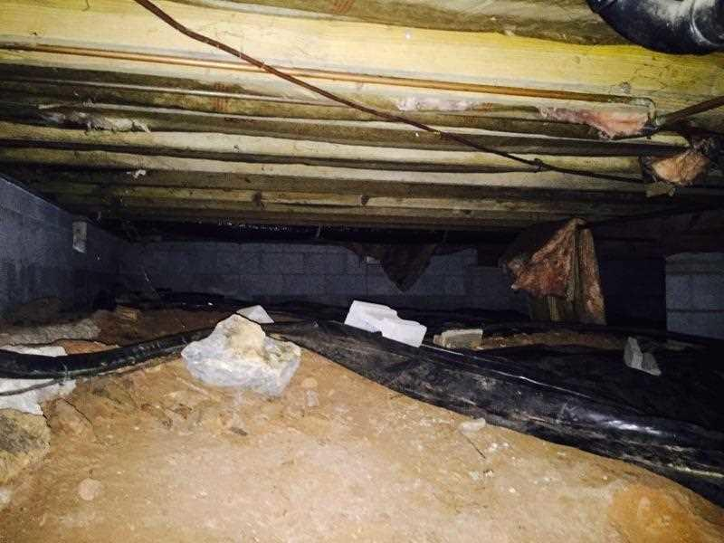 Crawl Space Encapsulation with CleanSpace in Black Mountain, NC - Before Photo