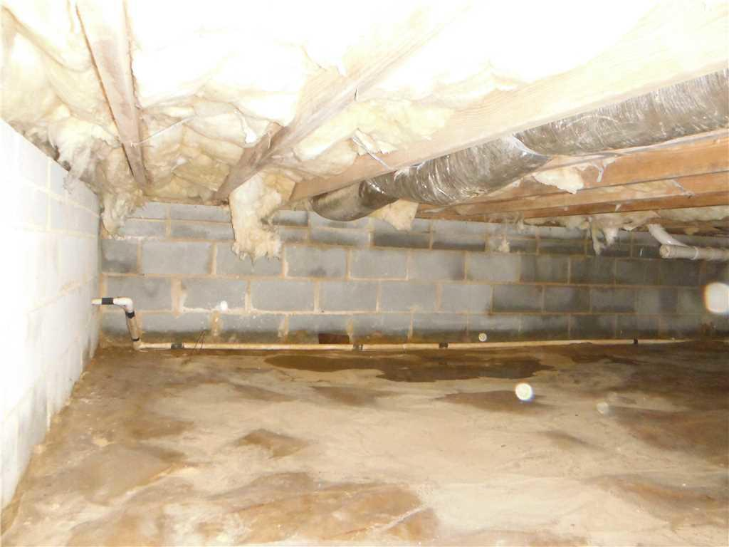 Crawl Space Encapsulation in Mars Hill, NC - Before Photo